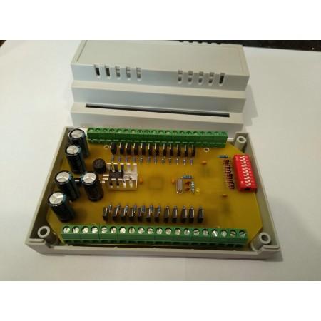 24 kanálovy DMX - RGB prevodník na DIN lištu