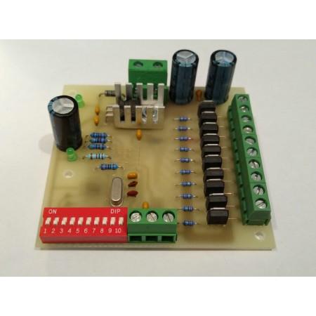 10 kanálovy DMX - PWM prevodník 12BIT